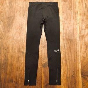 Lorna Jane zipper-ankle black active leggings, S